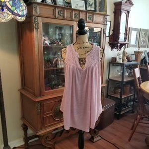 Free People Pink flowy tank top size S